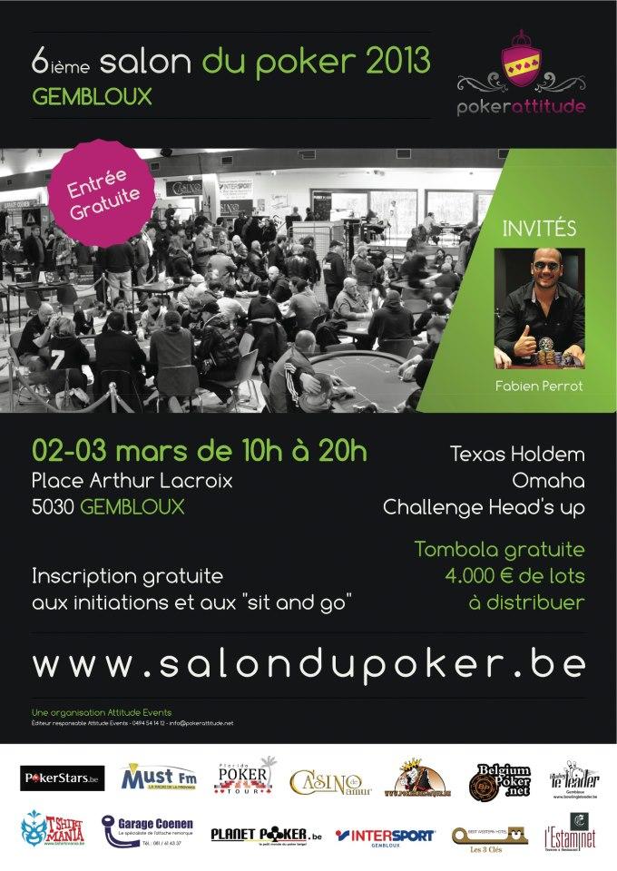 Affiche Salon du Poker 2013 (AAAA)