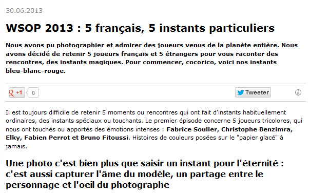 Article 5 français 5 instants particuliers sur Poker Strategy le 30 juin 2013