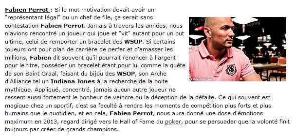 Suite article Poker Strategy 5 Français 5 champions