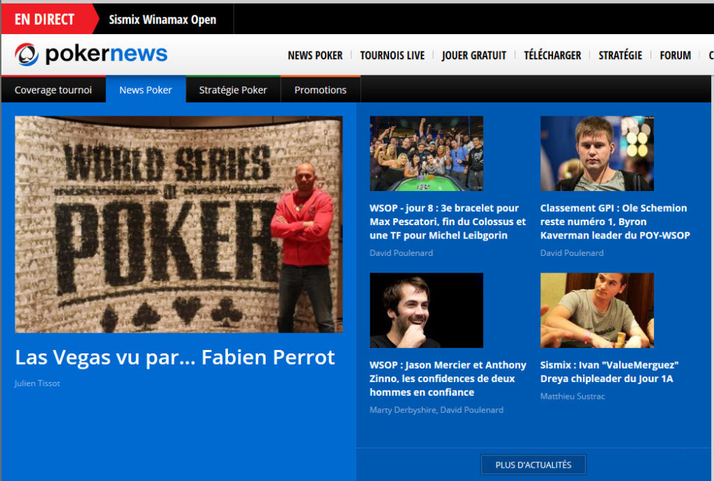 Une de Pokernews (AAAA)